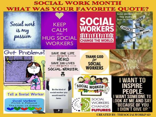 Social Work Month Is..